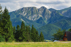 Giewont from Gubalowka. Royalty Free Stock Image
