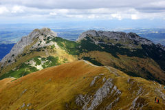 Giewont, landscape od Tatras Mountain in Poland Royalty Free Stock Image