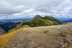 Giewont, montanha do od Tatras da paisagem no Polônia fotografia de stock