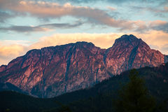 Giewont Mountain, Inspiring Mountains Landscape in summer Tatras Royalty Free Stock Image