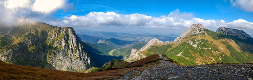 Giewont, Mountain in Polish Tatras with a cross on top, Western Tatras Mountain in Poland Royalty Free Stock Image