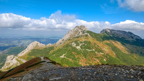Giewont, Mountain in Polish Tatras with a cross on top, Western Tatras Mountain in Poland. Landscape od Tatras Mountain in Poland. Giewont - mountain in Polish Royalty Free Stock Image