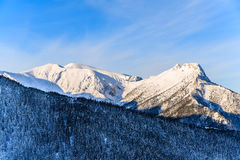 Giewont mountain at sunrise Stock Image