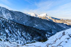 Giewont mountain in winter at sunrise Royalty Free Stock Photos