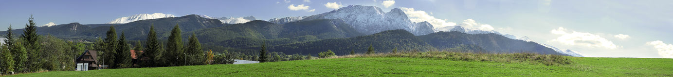 Giewont panorama in tatras Royalty Free Stock Image