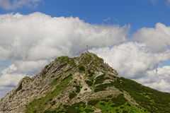 Giewont peak. In Poland in the Europe Royalty Free Stock Images