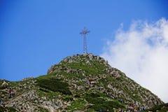 Giewont peak. In Tatras in Poland Stock Photos