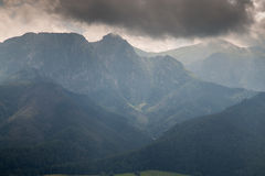 Giewont peak under dark clouds Royalty Free Stock Photography