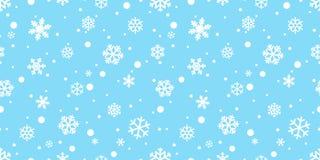 Gif иллюстрации предпосылки плитки обоев повторения Xmas Санта Клауса снега рождества вектора картины снежинки безшовным изолиров бесплатная иллюстрация
