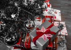 GIF happynewyear del fondo de Navidad del nopeople del primer de la decoración de la Navidad fotografía de archivo libre de regalías