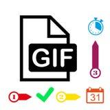 Gif icon stock vector illustration flat design Stock Image