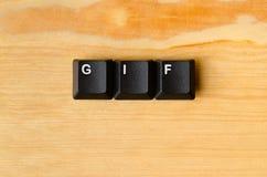 GIF-woord royalty-vrije stock foto