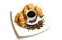 Giffel med kaffe Arkivbild