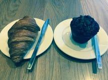 Giffel och muffin Arkivbild