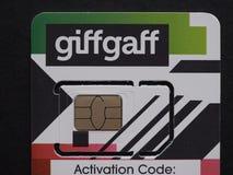 GiffGaff sim card in London Stock Image