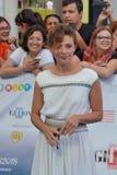 Giffoni Valle Piana, Sa, Италия - 23-ье июля 2018: Yasmine Trinca на фестивале фильмов 2018 Giffoni стоковое изображение