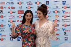 Giffoni Valle Piana, Sa, Italy - July 22, 2018 : Francesca Chillemi and Diana Del Bufalo at Giffoni Film Festival 2018 Royalty Free Stock Image