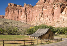 Gifford Farm. Scenic view of Gifford farm in Capital Reef National Park Stock Photo