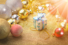 Gifr коробки для рождественской вечеринки Стоковые Фото