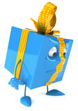 Gift. With hands and feet Royalty Free Stock Photo