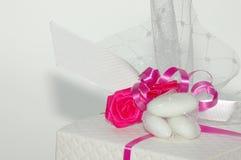 Gift. Top part of wedding gift box Stock Photo