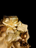 Gift. Christmas gift on a black background Royalty Free Stock Photos