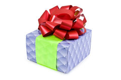 Gift. Isolated gift on a white background Royalty Free Stock Image