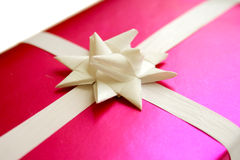 Gift 2. Gift wrapped in decorative pink paper Royalty Free Stock Photo