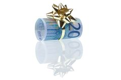 Gift of 20 euro Stock Photos