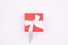 Gift. A red box with the gift Royalty Free Stock Photos