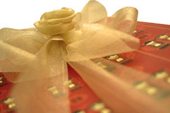 Gift. A wedding gift wrapped in a Chinese-themed paper Royalty Free Stock Photo