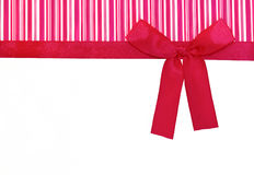 Gift. Red bow on a gift box royalty free stock photos