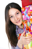 Gift. The birthday of the many gifts stock image
