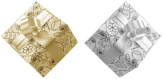 Gift. Wrapped in my pattern from file 74565 stock illustration