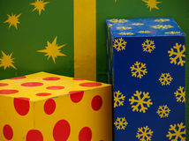 Gift. Box gift Stock Images