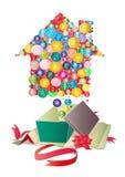 Gift. Cartoon gift on white background Stock Photos