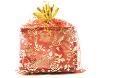 Gift. In bright red bag stock photography