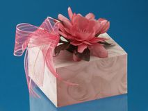 Gift. On Blue Royalty Free Stock Images