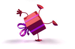 Gift. Happy gift, ideal for christmas or birthdays, 3d generated Stock Images
