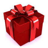 Gift. Red gift box with red ribbon Royalty Free Stock Photo