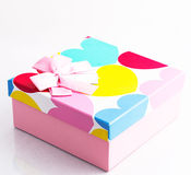 Gift. Box with hearts Stock Photos