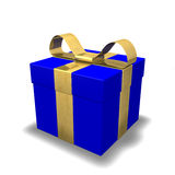 Gift 3D Christmas Birthday Gold Royalty Free Stock Images
