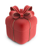 Gift 3D. Red box with bow.  Stock Images