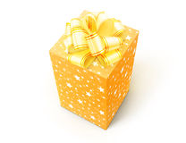 Gift. Box with bow isolated on white background Royalty Free Stock Photography