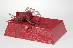 Gift. Every nice gift contains some sweet things in it. Chocolate Royalty Free Stock Photography