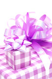 Gift. Box with a bow Royalty Free Stock Photos