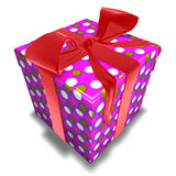 Gift. 3d computer generated gift with ribbon Stock Photography