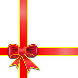 Gift. Red ribbon over white paper which generated by photoshop cs3 vector illustration