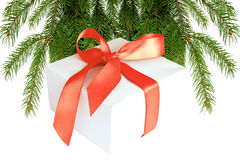 Gift. Christmas Gift isolated on whte Stock Images