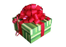 Gift. With a red ribbon Royalty Free Stock Photography
